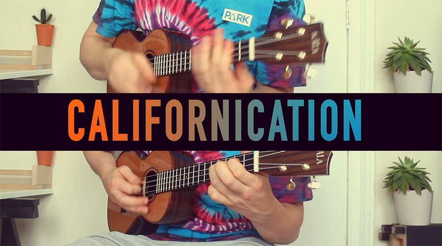 """""""Californication"""" auf der Ukulele durchgespielt"""
