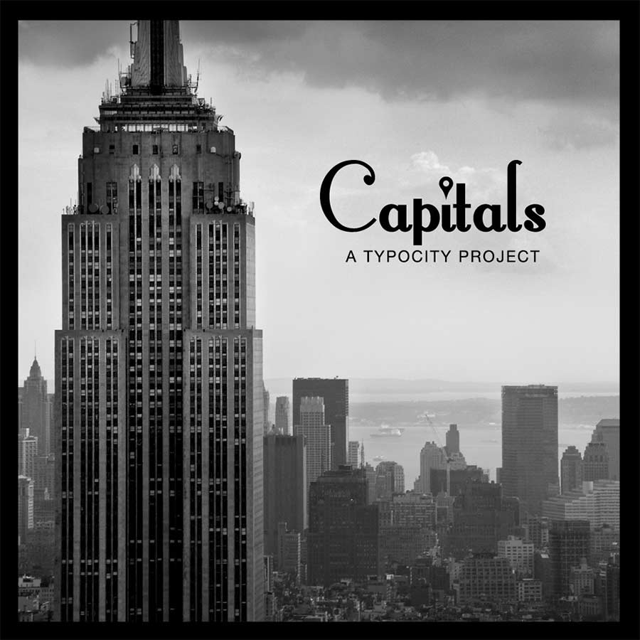 Capitals: Schriftart aus Hausformen New York Citys capitals-new-york-city-font_02