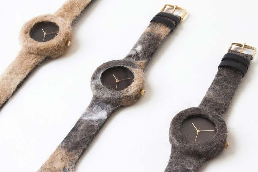 Uhren aus Hunde- und Katzenfell