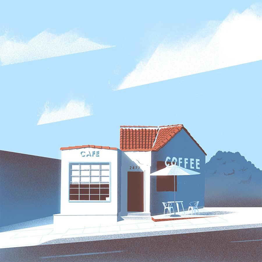 Minimalistische Architektur-Illustration