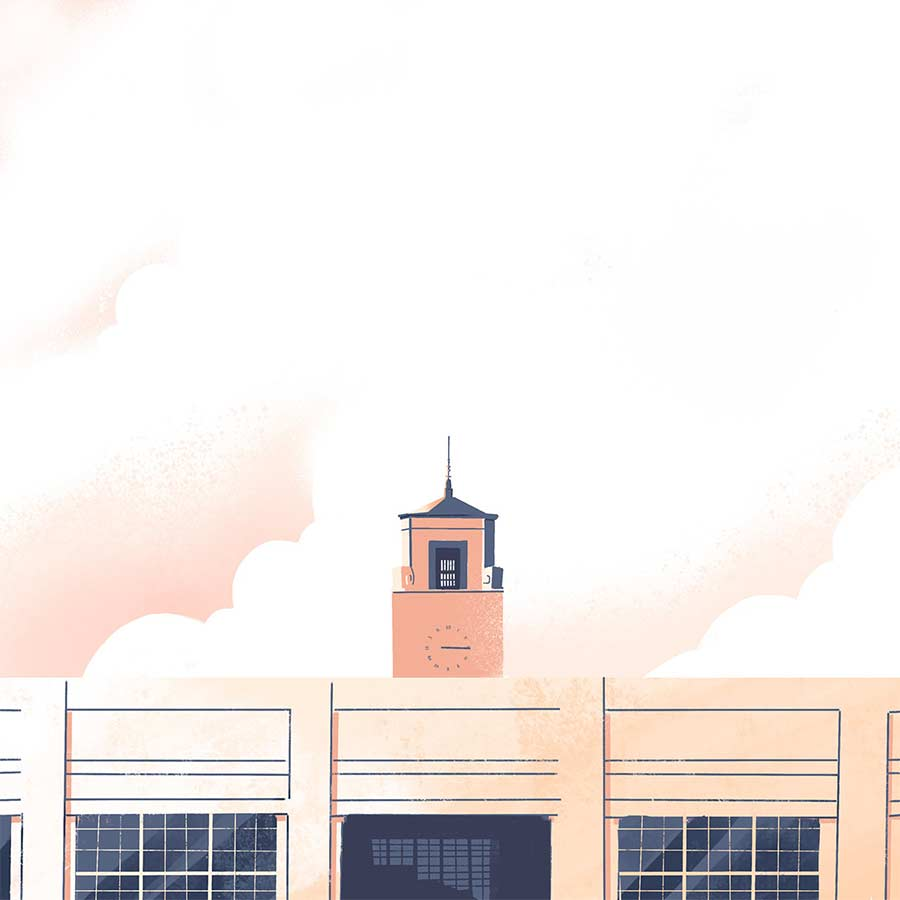 Minimalistische Architektur-Illustration down-in-the-street-illustration_02