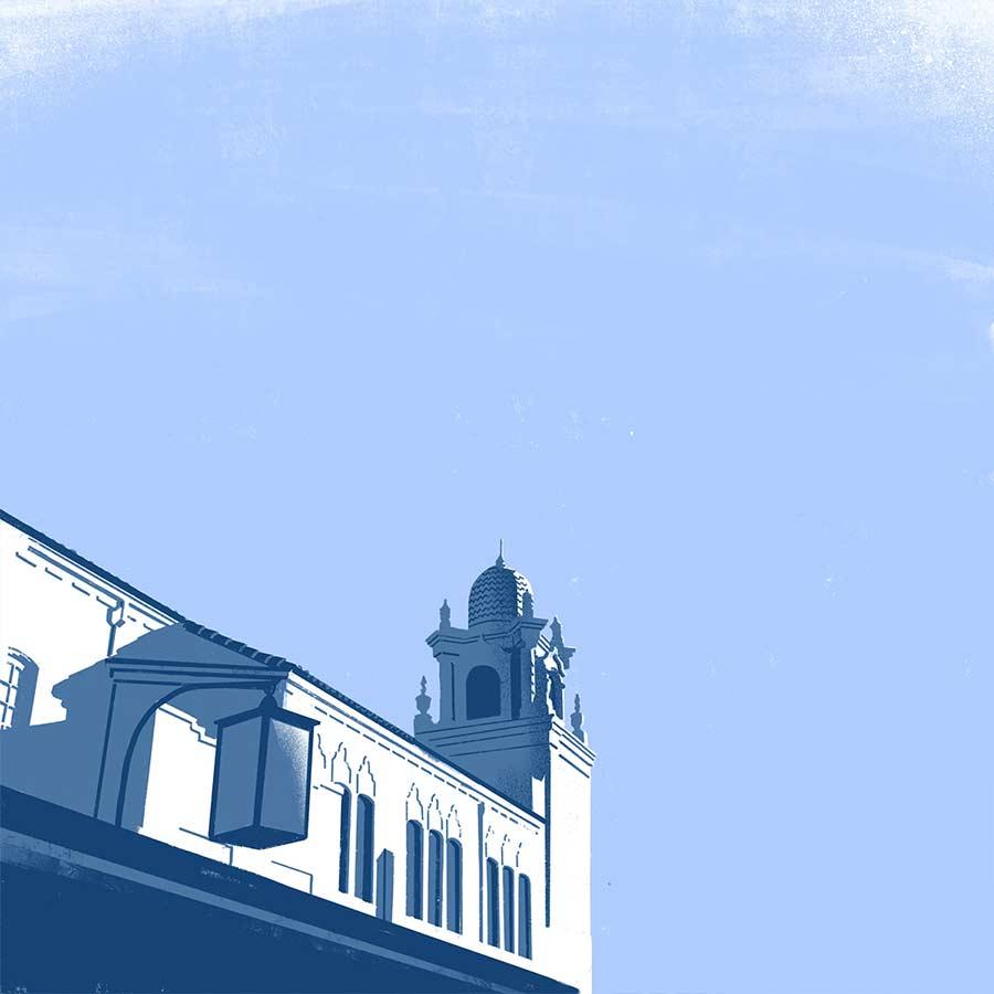 Minimalistische Architektur-Illustration down-in-the-street-illustration_04