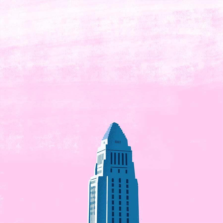 Minimalistische Architektur-Illustration down-in-the-street-illustration_06