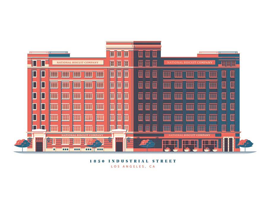 Minimalistische Architektur-Illustration down-in-the-street-illustration_07