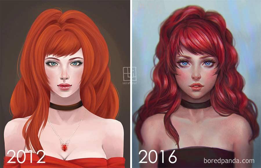 Jahre später das identische Motiv nochmals malen draw-this-again_01