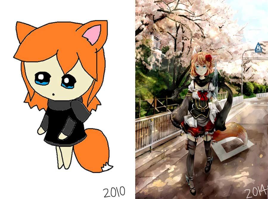 Jahre später das identische Motiv nochmals malen draw-this-again_02