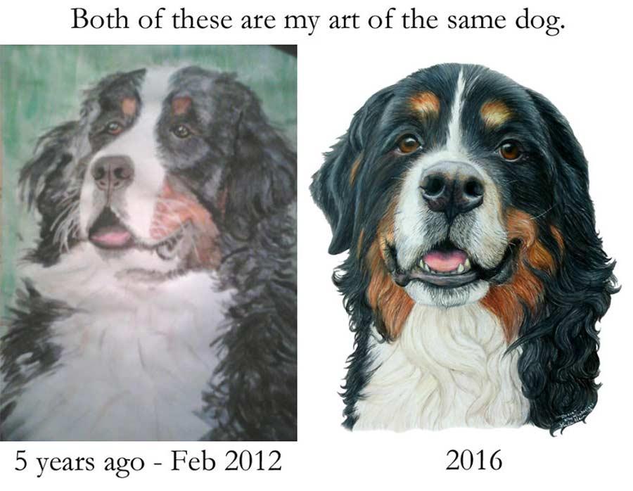 Jahre später das identische Motiv nochmals malen draw-this-again_10