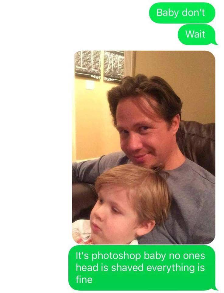 Vater spielt Ehefrau fiesen SMS-Streich imessage-kid-shaving-prank_12