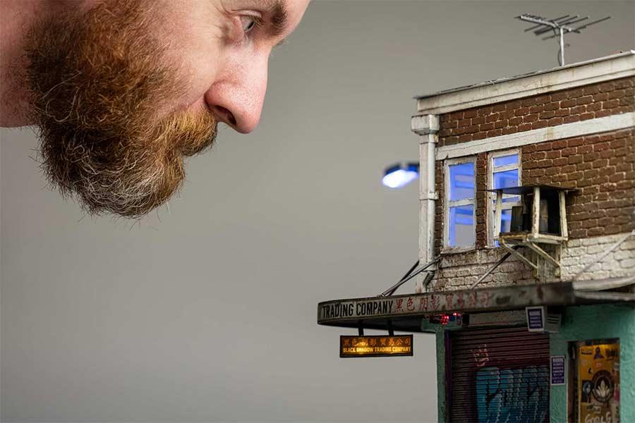 Miniaturgebäude von Joshua Smith joshua-smith-miniature-houses_01