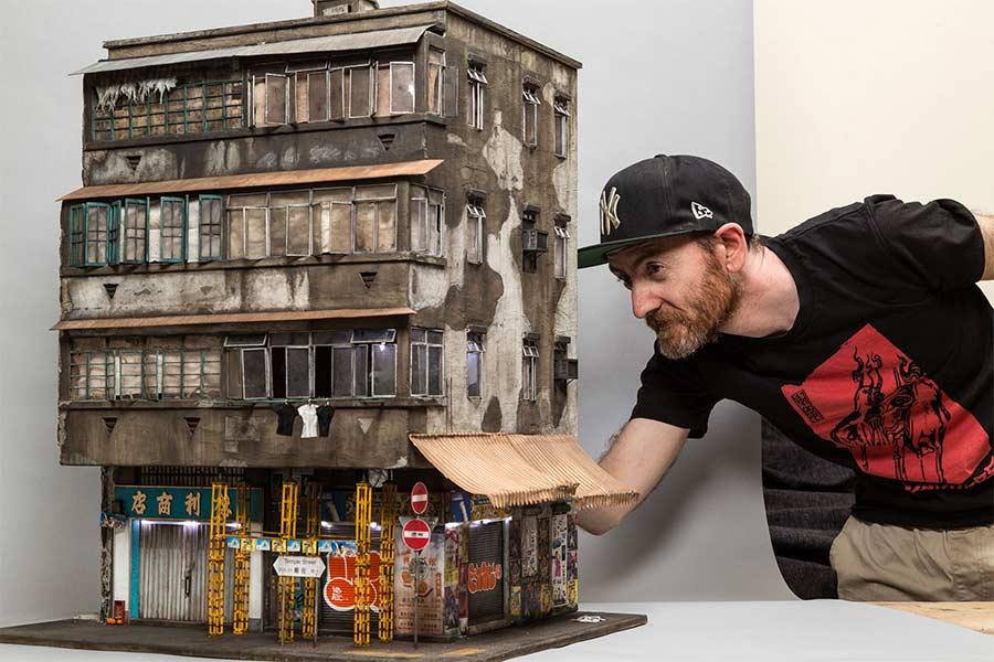 Miniaturgebäude von Joshua Smith joshua-smith-miniature-houses_10
