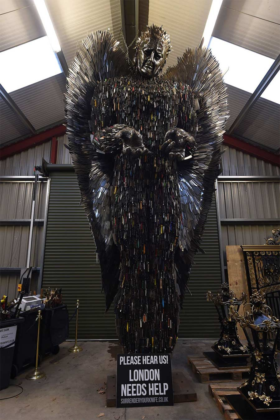 Der 'Knife Angel' stammt aus 100.000 sichergestellten Messern knife-angel_01