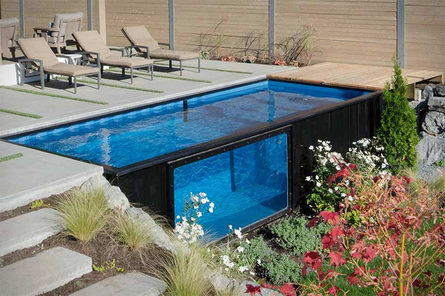 Swimmingpool aus schiffscontainer - Swimmingpool aus paletten ...