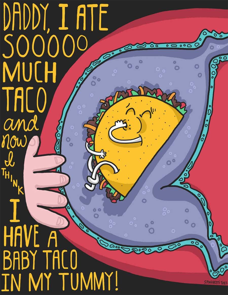Illustrierte Kleinkind-Aussagen spaghetti-toes_02