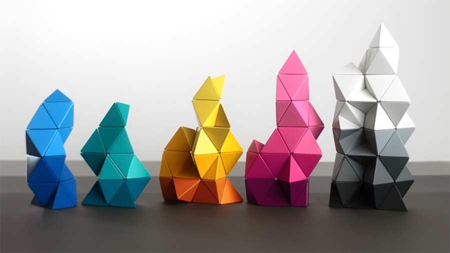 Magnetische Polygon-Bausteine
