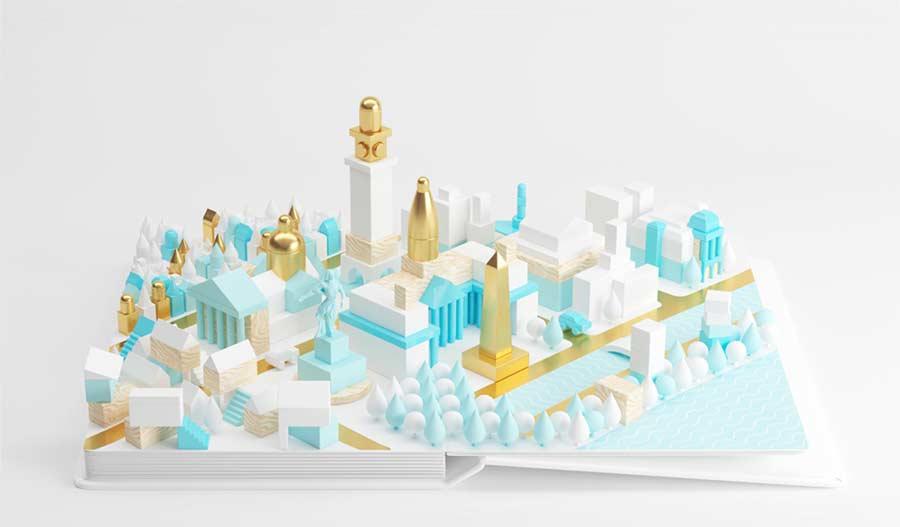 Toll animierte Städte-Panoramen