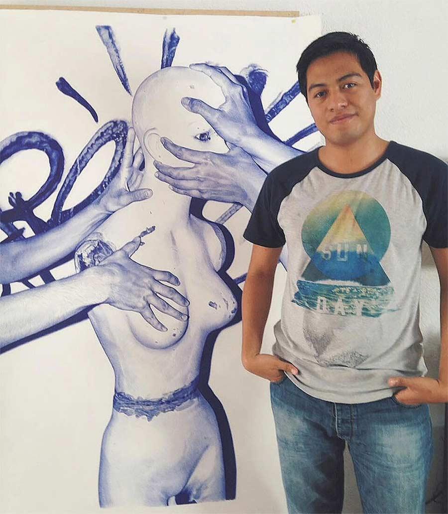 Kugelschreiber-Bilder von Alfredo Chamal Alfredo-Chamal-ballpoint-paintings_08