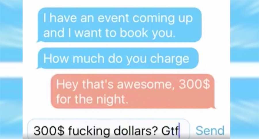 So bescheuert verlaufen Gage-Verhandlungen für DJs DJ-Booking-conversation
