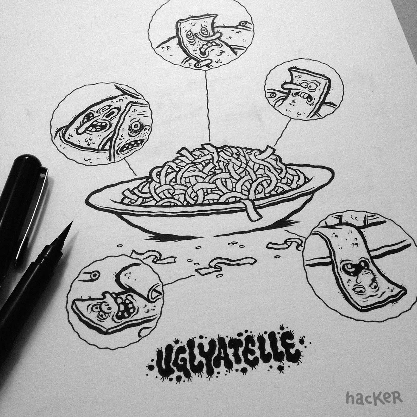 Ein Cartoonbuch voll kulinarischer Wortwitze Pizzeria-Disgusto_03