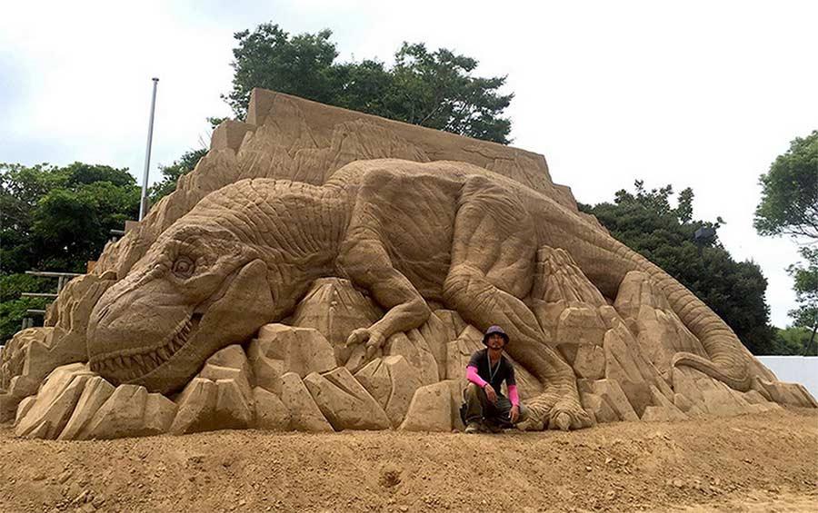 Sandskulpturen von Toshihiko Hosaka