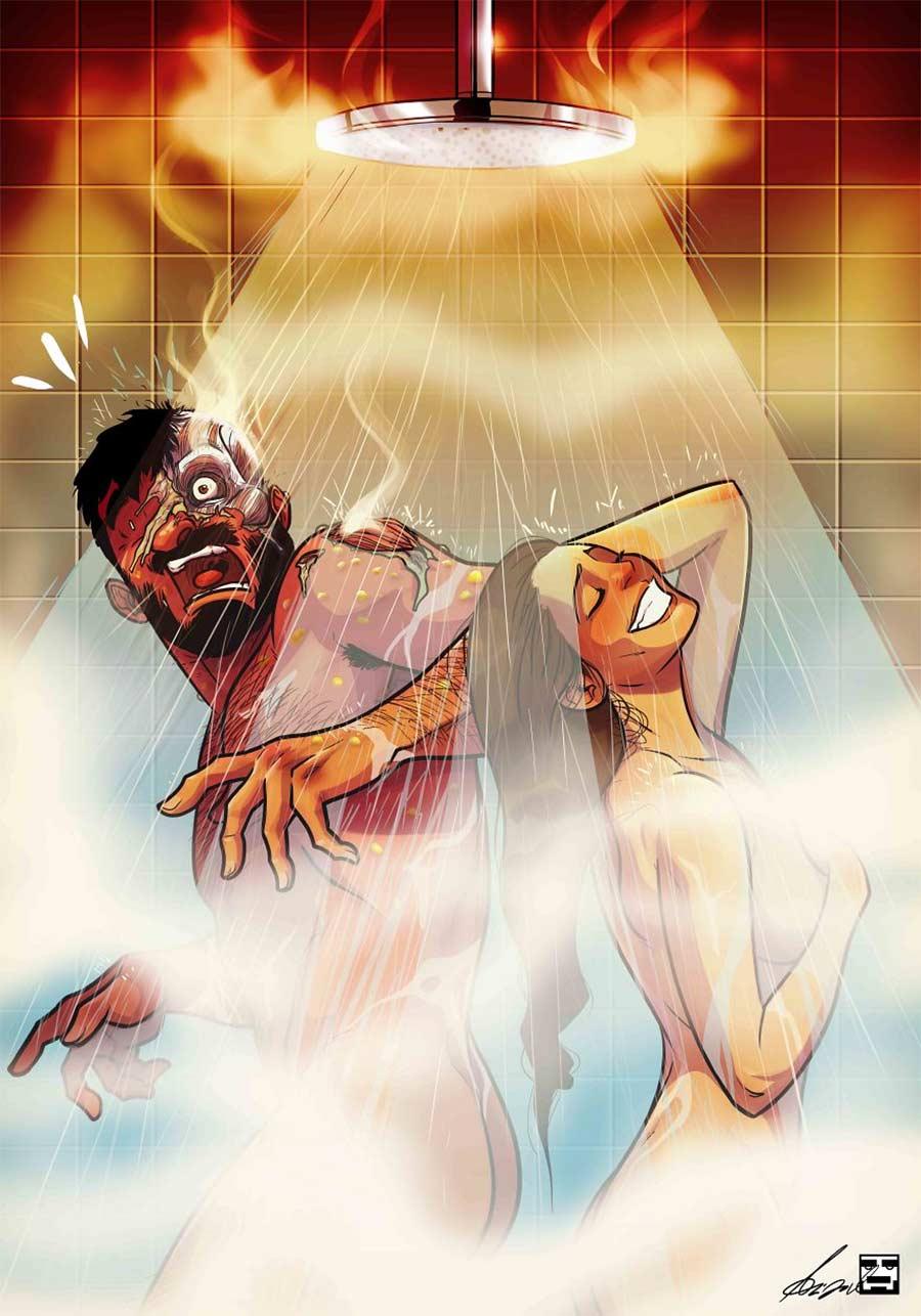 Eine Beziehung in Comic-Motiven Yehuda-Adi-Devir_02
