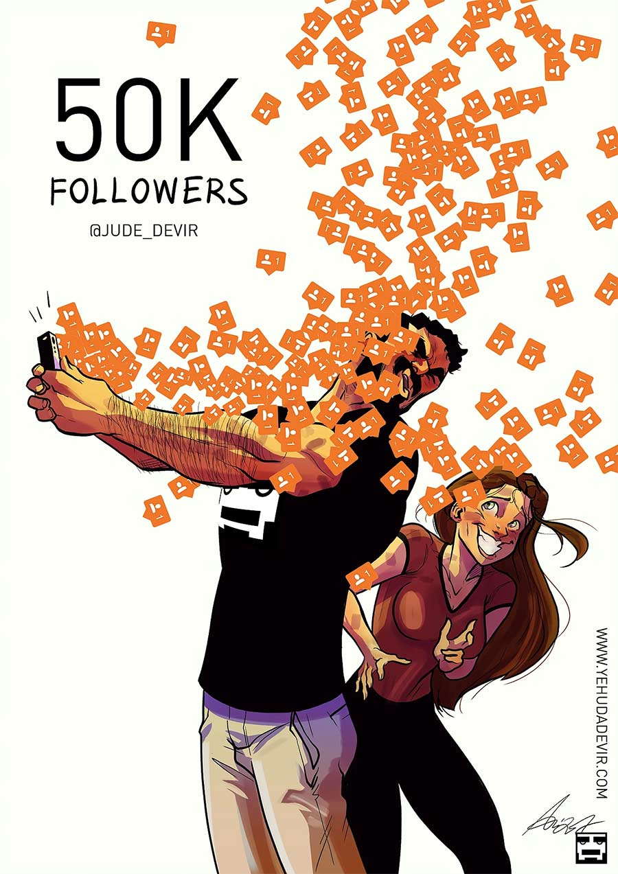 Eine Beziehung in Comic-Motiven Yehuda-Adi-Devir_06