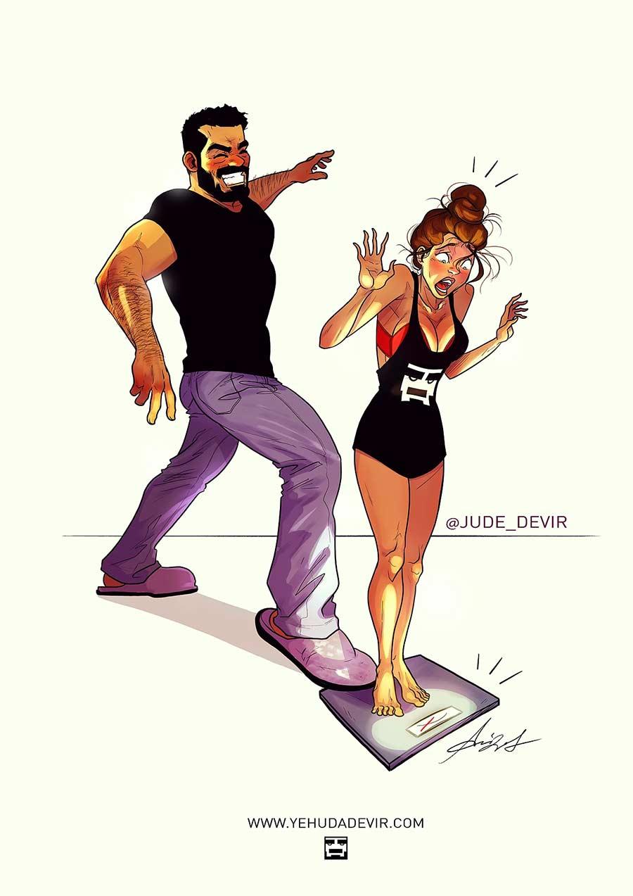Eine Beziehung in Comic-Motiven Yehuda-Adi-Devir_09