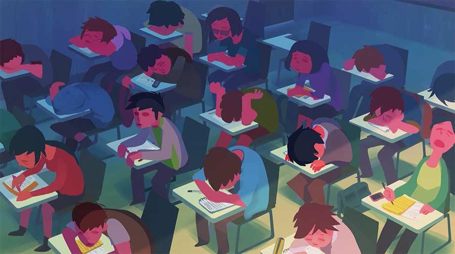 Der ewig währende Kampf gegen das Einschlafen in der Schule