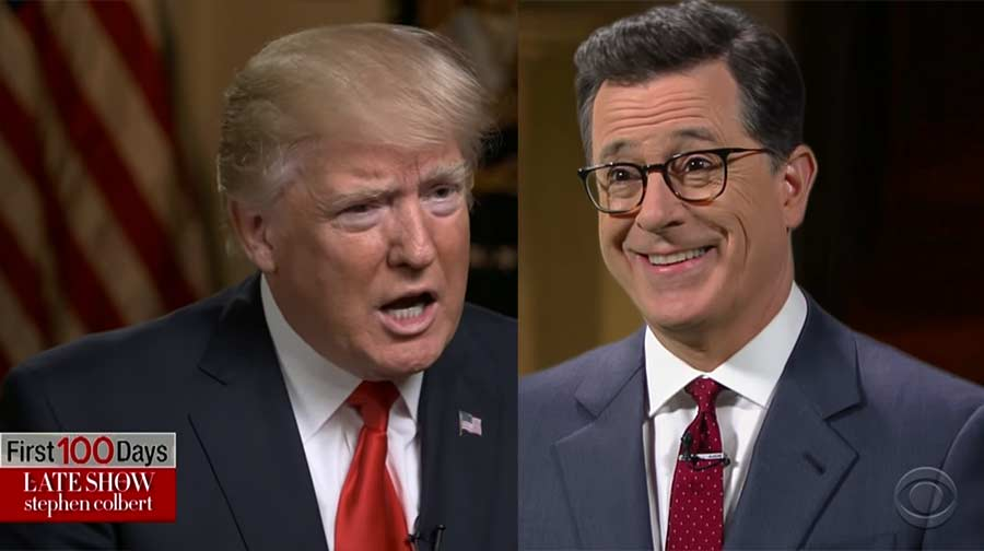 Stephen Colbert im Interview mit Donald Trump