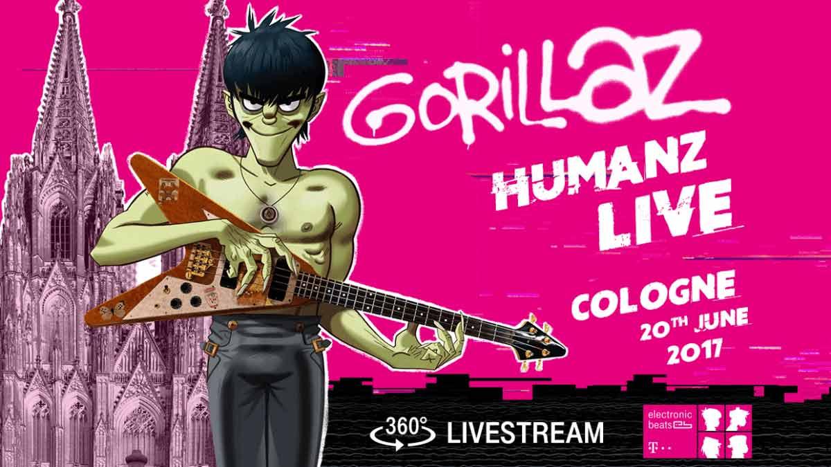 Seht die Gorillaz im ersten 360°-Livestream der Welt