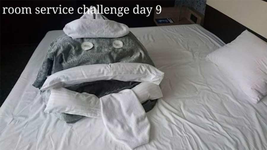 Kreative Bettmonster-Überraschungen eines Hotelgastes hotel-guest-surprise-maid_12