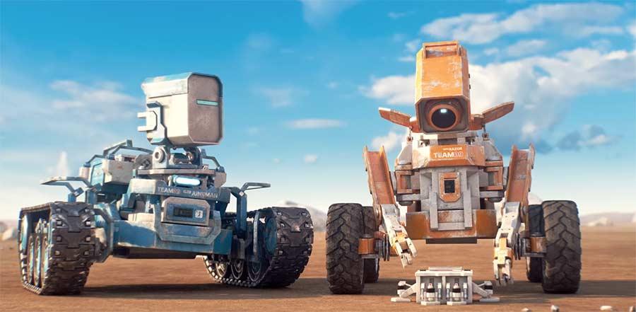 Zwei verdreckte Wall-Es auf Entdeckungsfahrt planet-unknown-short-film