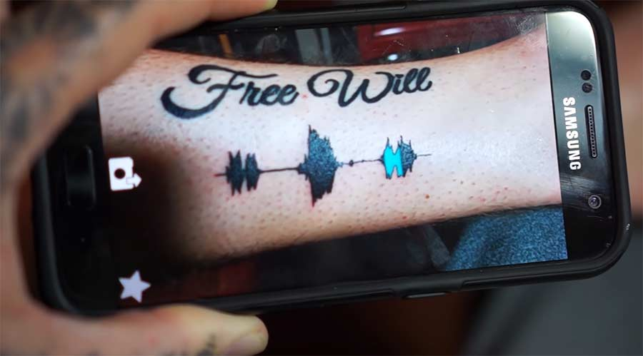 Abspielbare Audiowellen-Tattoos soundwave-tattoos