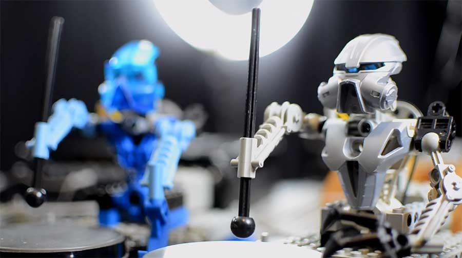 Band aus LEGO Musikrobotern