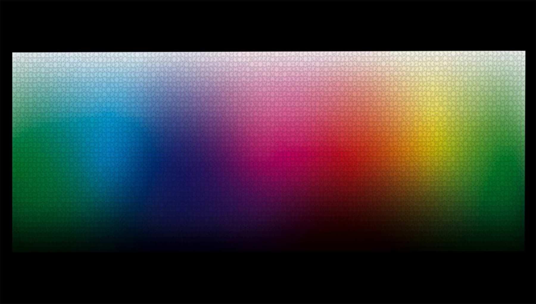 Farbverlauf-Puzzle mit 5.000 Teilen