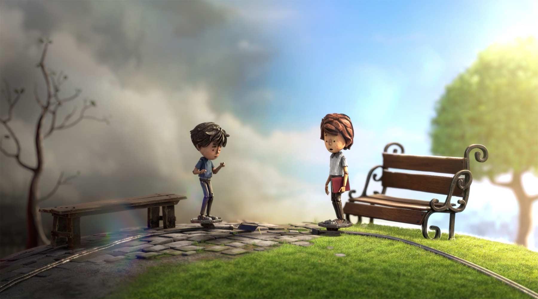 Ausbrechen aus einem Leben auf Schienen AIME-animated-short-cogs