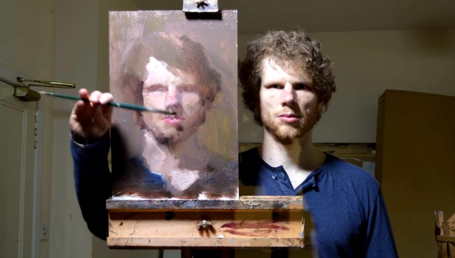 Selbstportrait im Spiegelbild