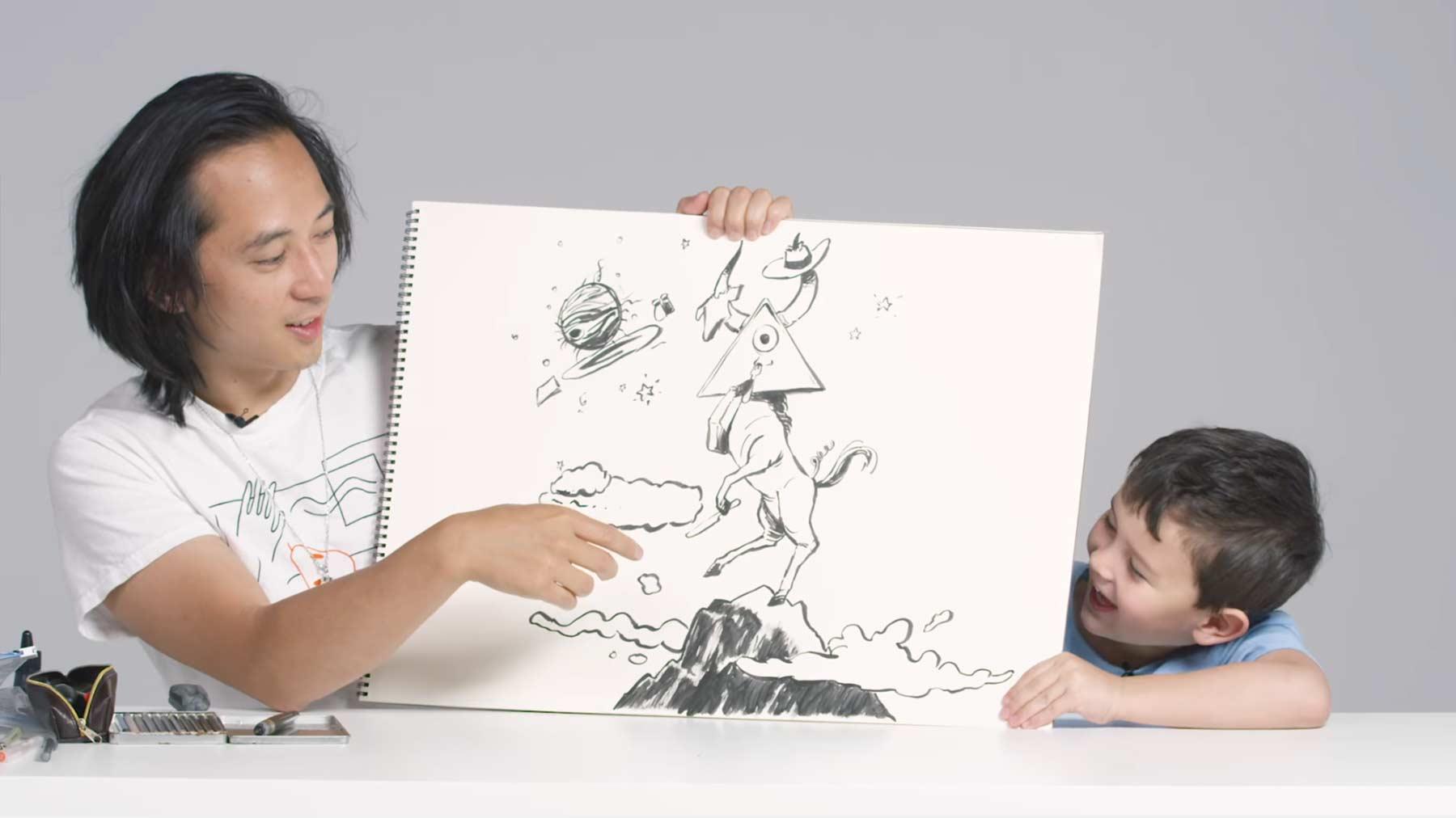 Kinder beschreiben Illustrator, wie Aliens aussehen Kids-Describe-Aliens-to-an-Illustrator