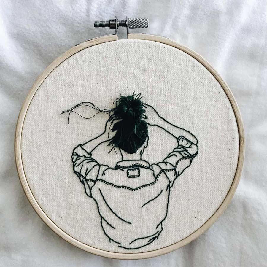 Haarige Stickereien von Sheena Liam Sheena-Liam_02