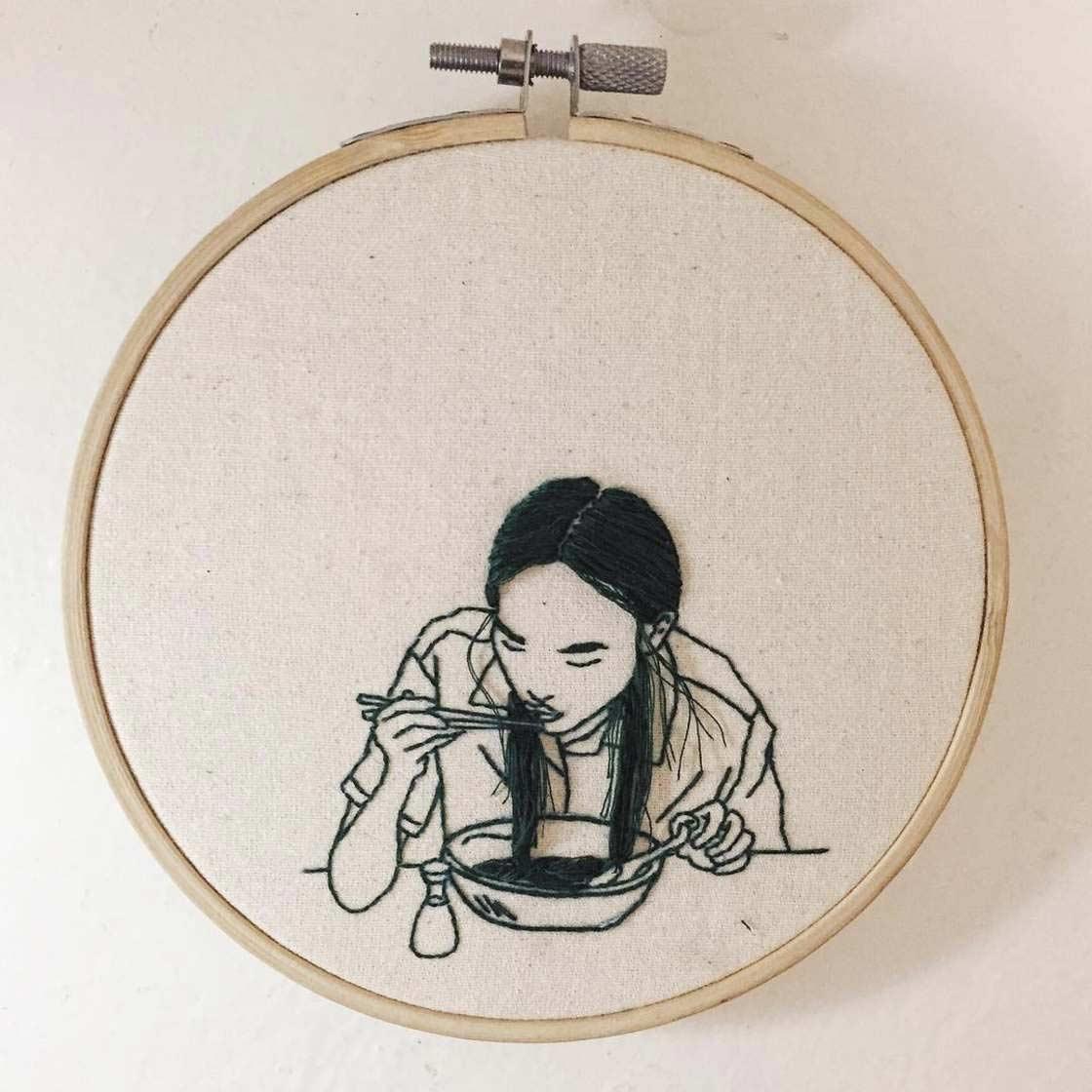 Haarige Stickereien von Sheena Liam Sheena-Liam_04