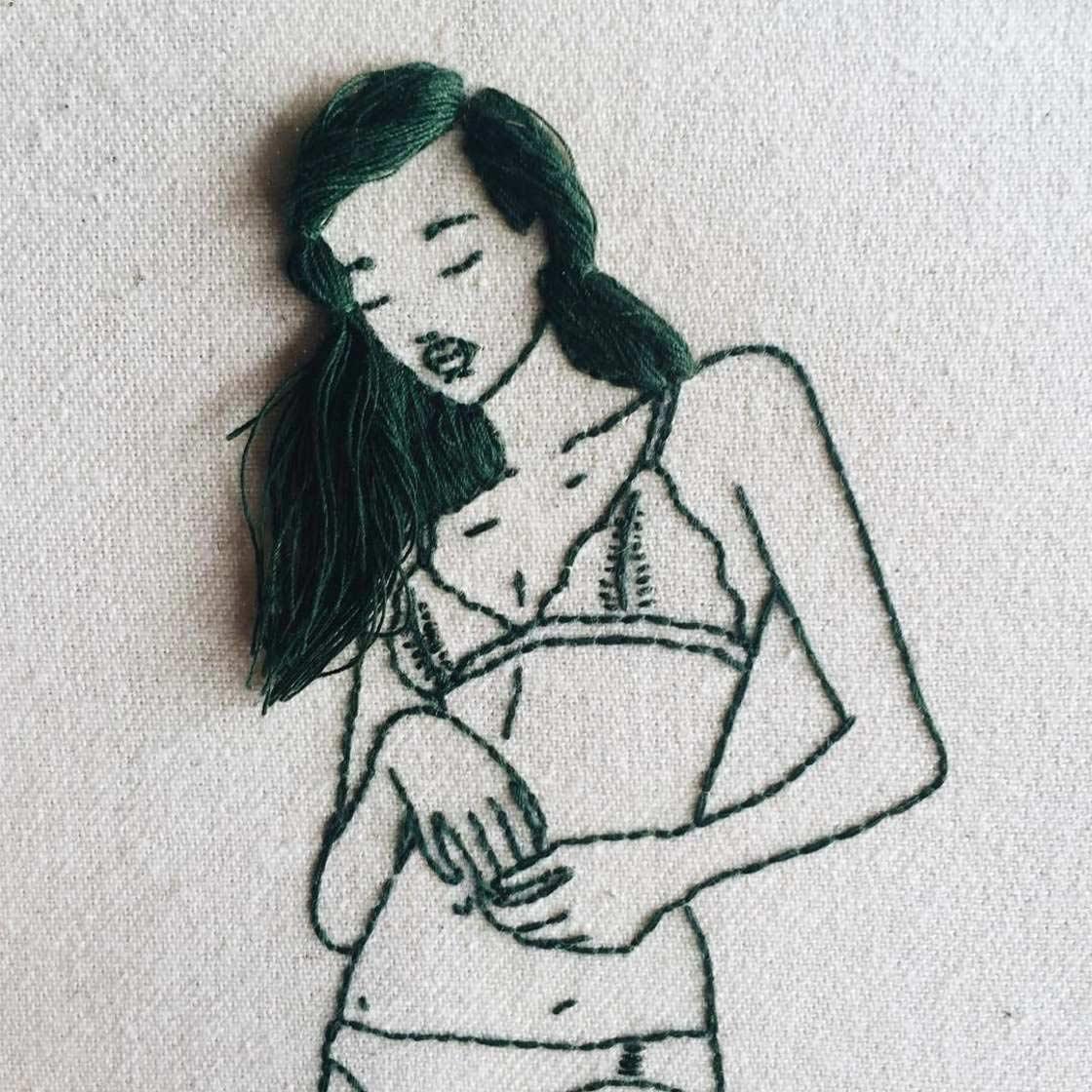 Haarige Stickereien von Sheena Liam Sheena-Liam_05