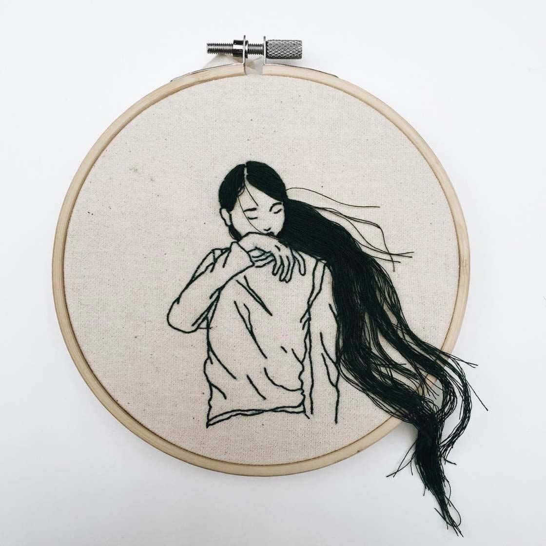 Haarige Stickereien von Sheena Liam Sheena-Liam_07