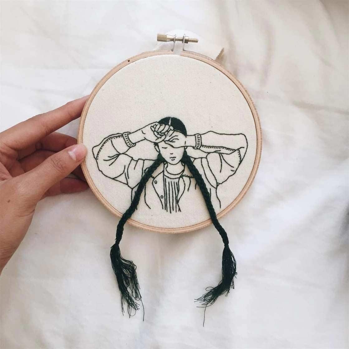 Haarige Stickereien von Sheena Liam Sheena-Liam_08