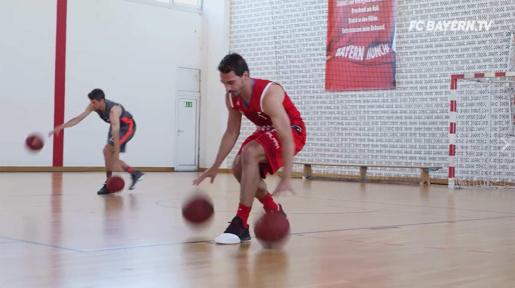 Mats Hummels und Thomas Müller battlen sich in diversen Sport-Challenges