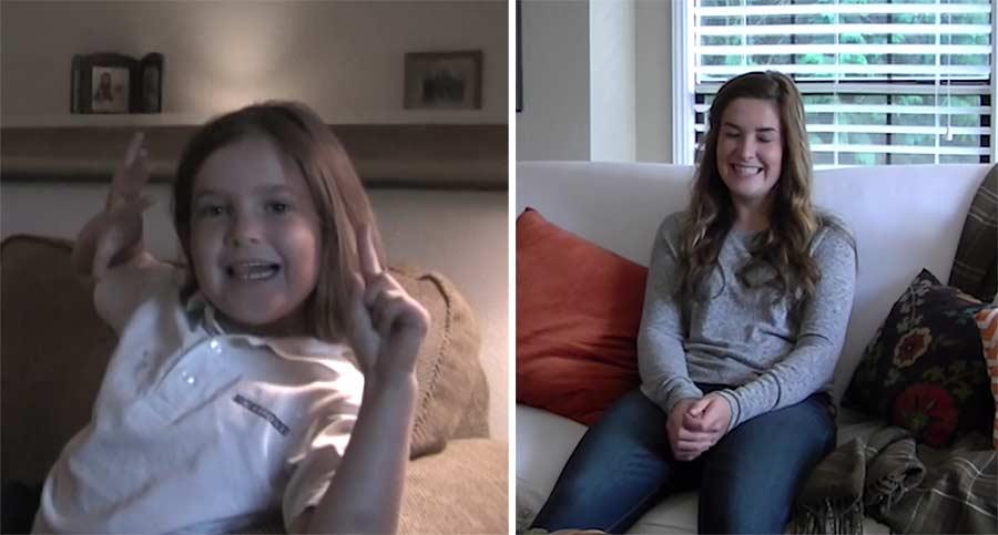 Vater hat Tochter zu jedem ersten Schultag ihres Lebens interviewt Twelve-Grades-of-First-Day-Interviews