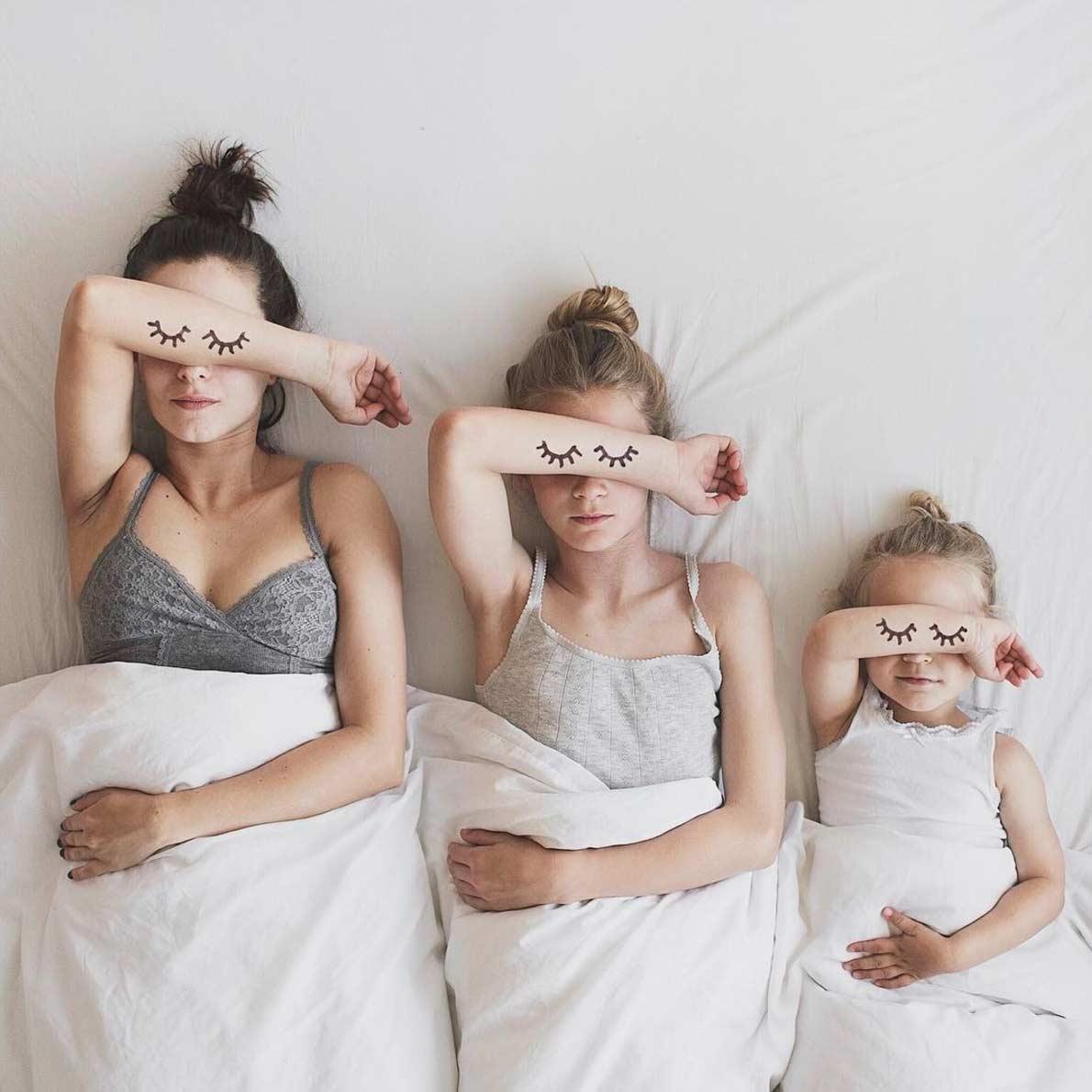 Dominique und ihre Töchter