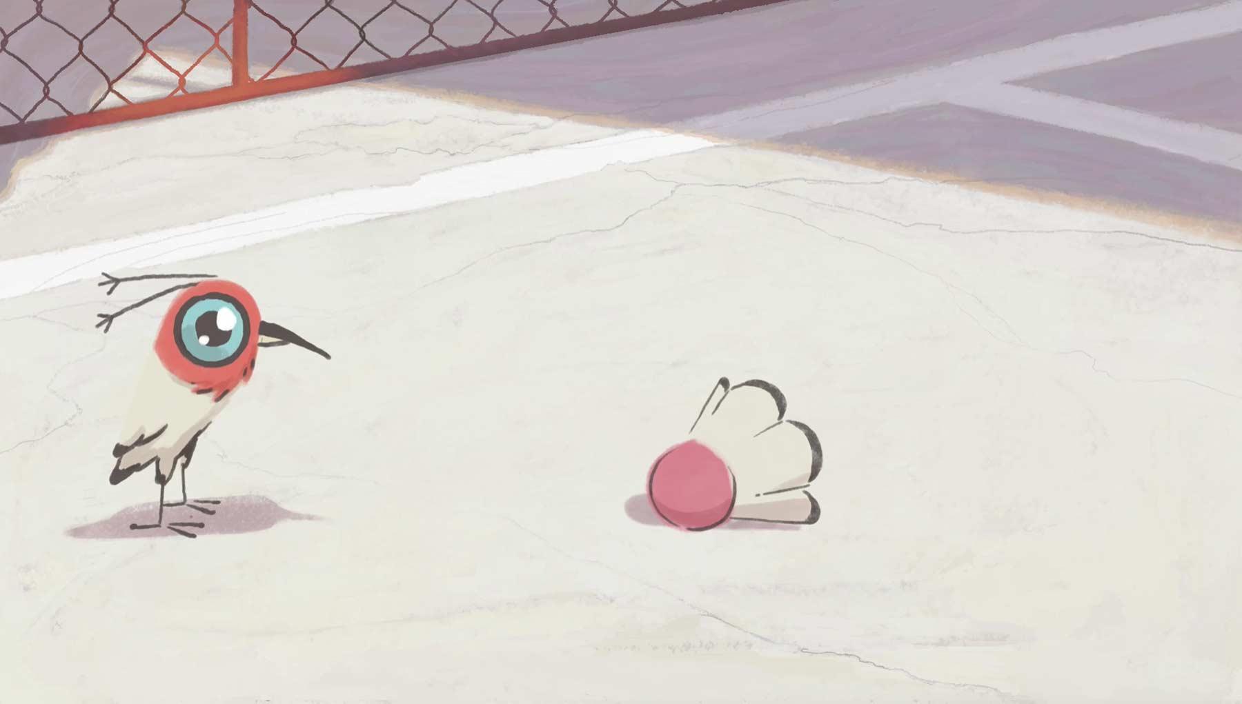 Wenn ein Vogel sich in einen Federball verliebt changeover-animated-short