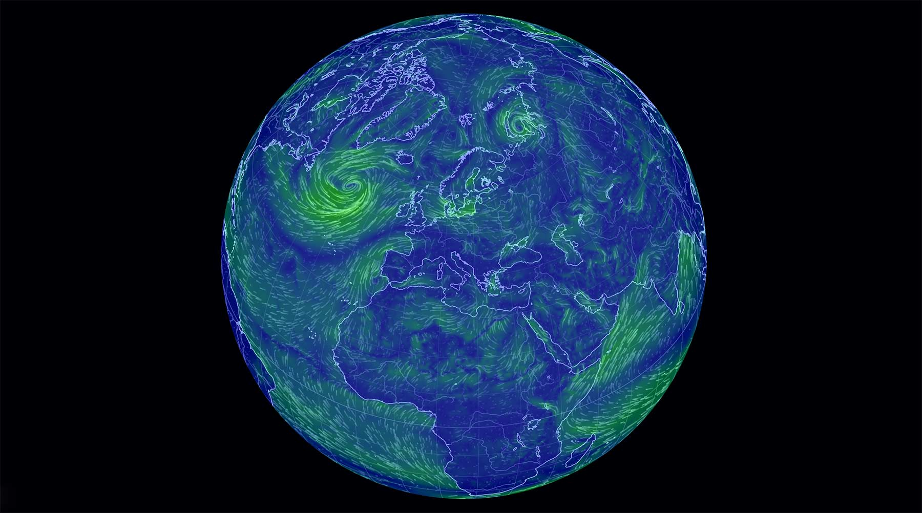 Interaktive Wetter-Weltkarte earth-visualization