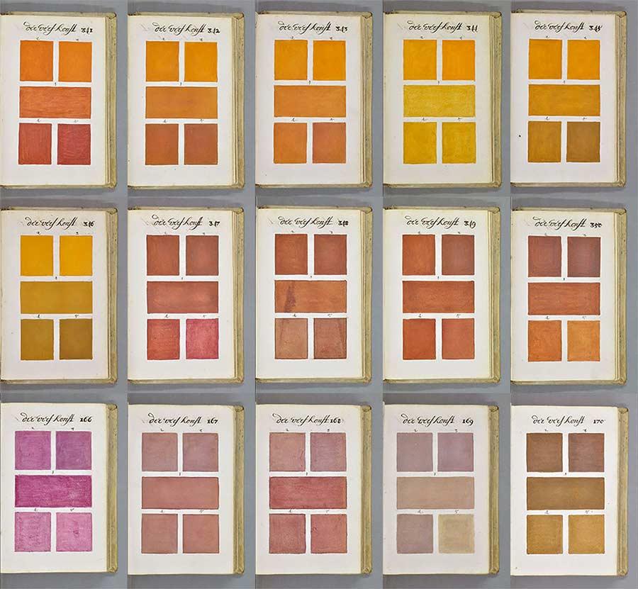Versuch aus 1692, alle Farben in einem Buch zu sammeln farbenbuch_02
