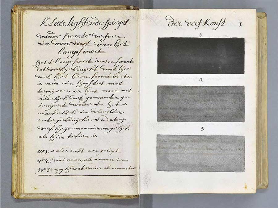 Versuch aus 1692, alle Farben in einem Buch zu sammeln farbenbuch_03