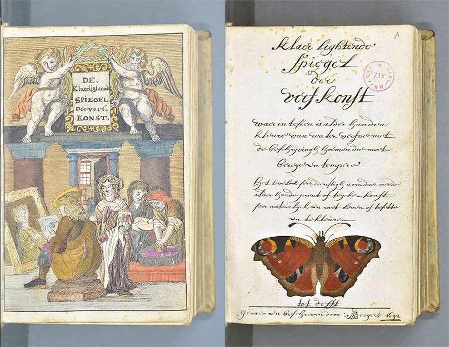 Versuch aus 1692, alle Farben in einem Buch zu sammeln farbenbuch_04